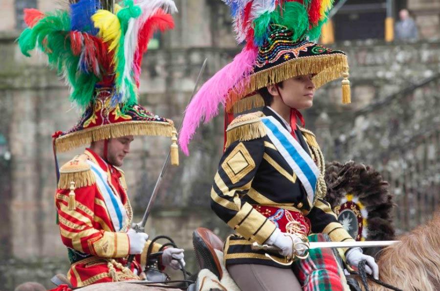 El carnaval de Ulla y los generales a caballo